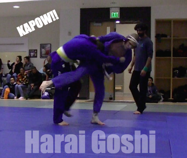 Harai goshi judo throw