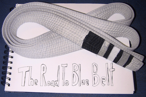 My white belt for jiu-jitsu