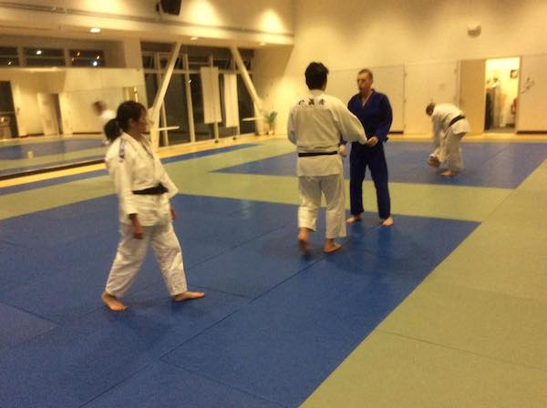 Me about to get thrown by a big black belt