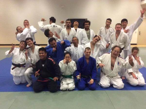 The four of us in the front row were promoted to green or brown belt.